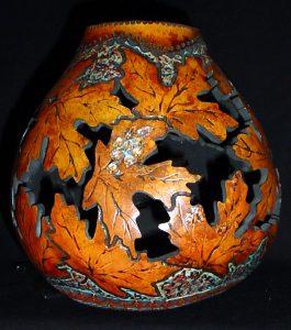 Cut Leaves Vase Gourd Photo