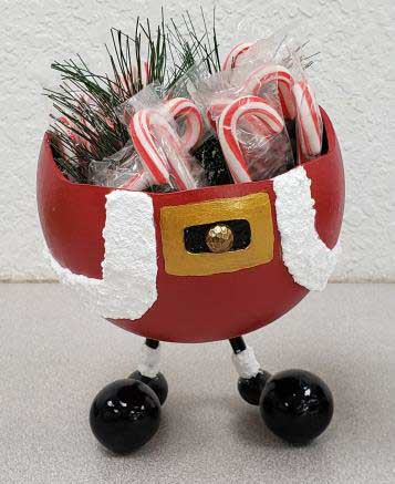 Santa bowl decorative gourd