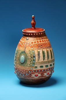 Gourd created by Patti Fisher