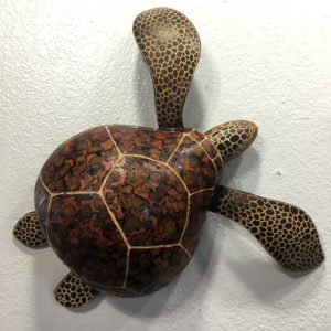 A turtle made from gourds